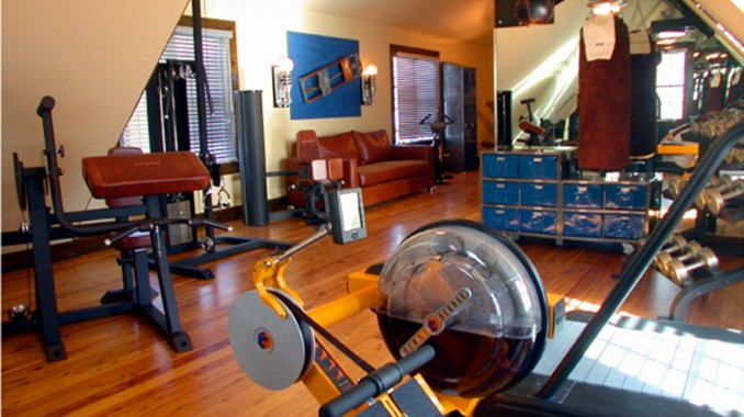 Garage Gym Man Cave : Man caves finished basements home theaters bars gyms