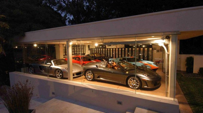 ferris bueller glass garage an exotic car collection dream garage. Black Bedroom Furniture Sets. Home Design Ideas